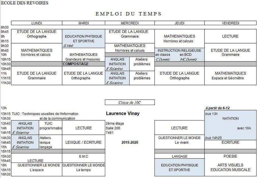 10eme C Archives 2018 2019 Ecole Des Revoires Ecole Des Revoires